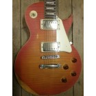 Elgitarr LP-kopia Vintage V100 Distressed Flamed Maple Cherry Sunburst